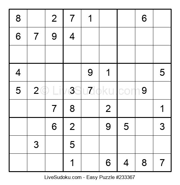 Beginners Puzzle #233367