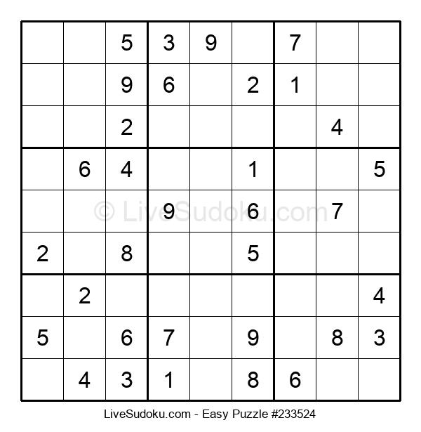 Beginners Puzzle #233524