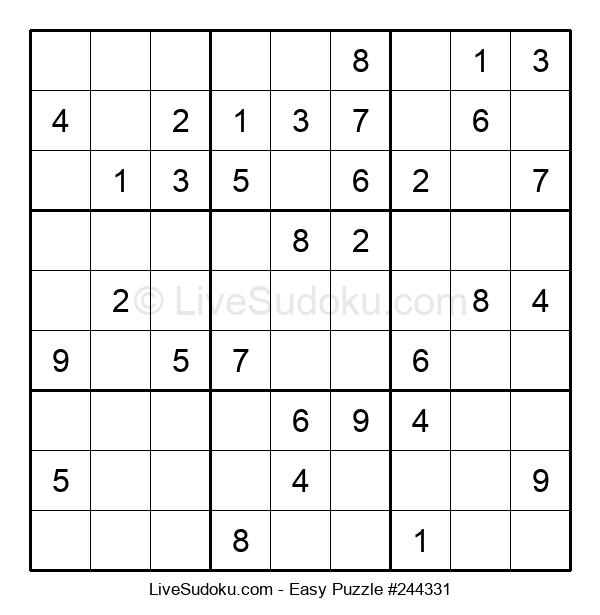 Beginners Puzzle #244331