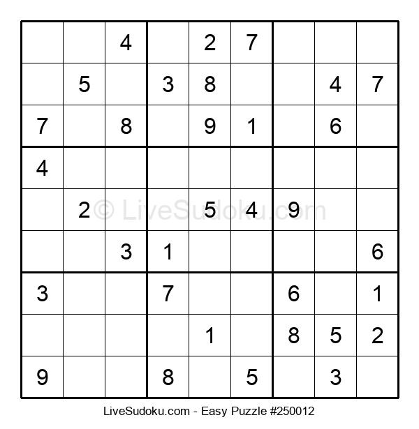 Beginners Puzzle #250012