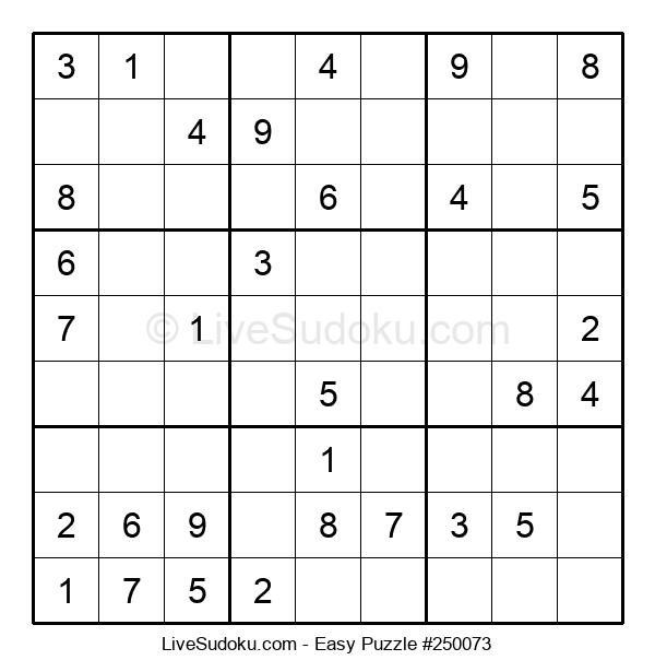 Beginners Puzzle #250073