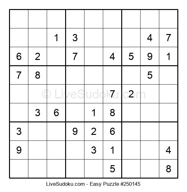 Beginners Puzzle #250145