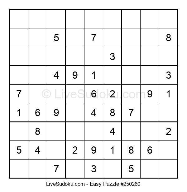 Beginners Puzzle #250260