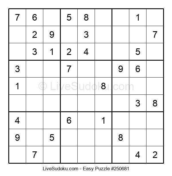 Beginners Puzzle #250681