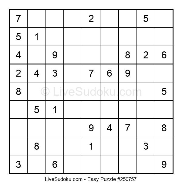 Beginners Puzzle #250757