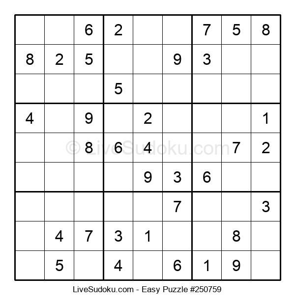 Beginners Puzzle #250759