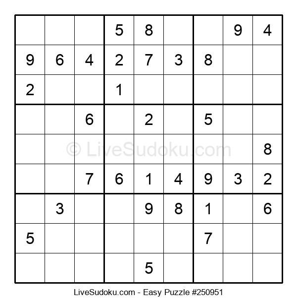 Beginners Puzzle #250951