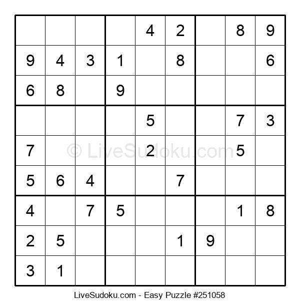 Beginners Puzzle #251058