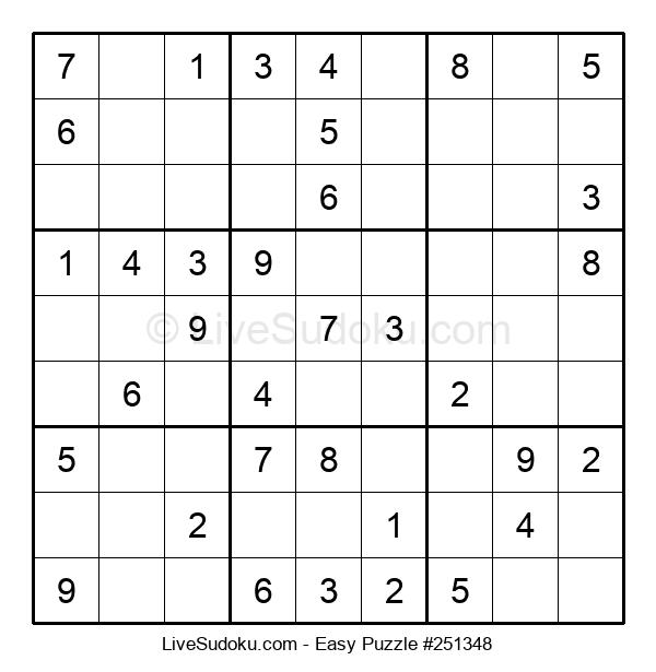 Beginners Puzzle #251348
