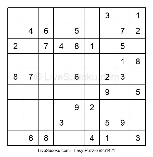 Beginners Puzzle #251421