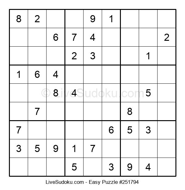 Beginners Puzzle #251794