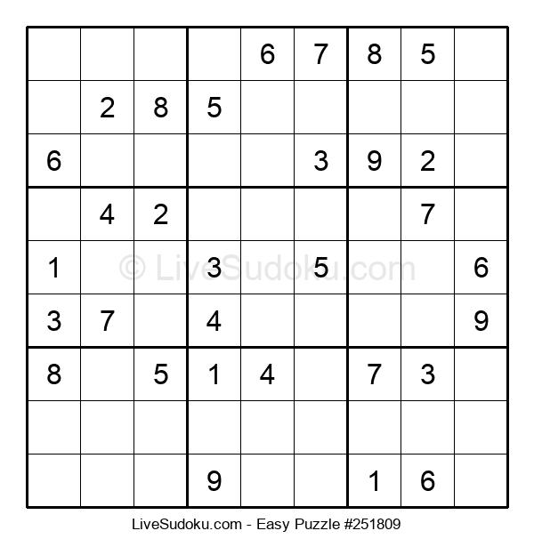 Beginners Puzzle #251809