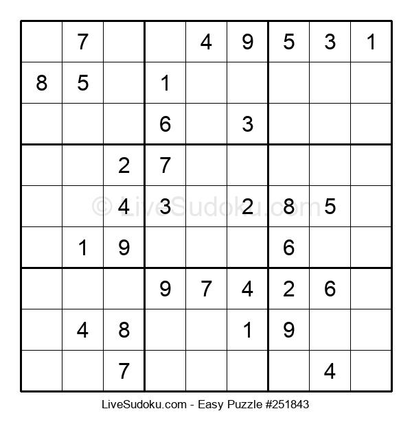 Beginners Puzzle #251843