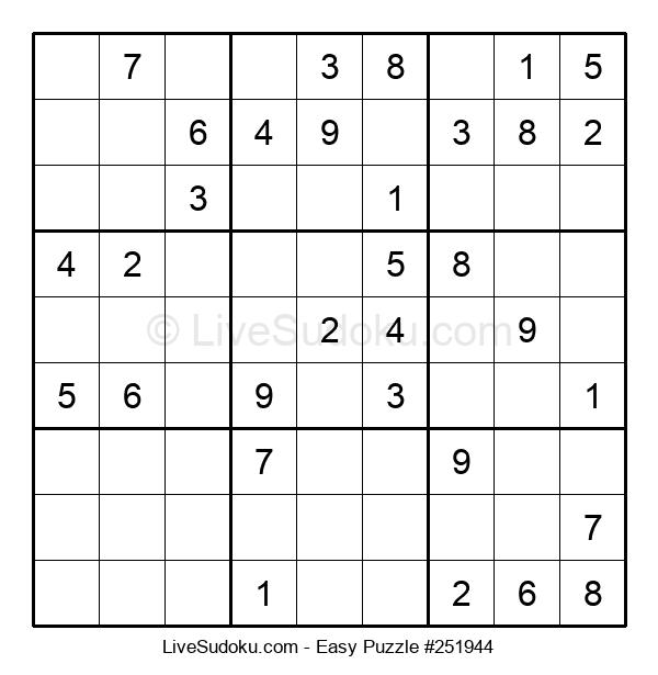 Beginners Puzzle #251944