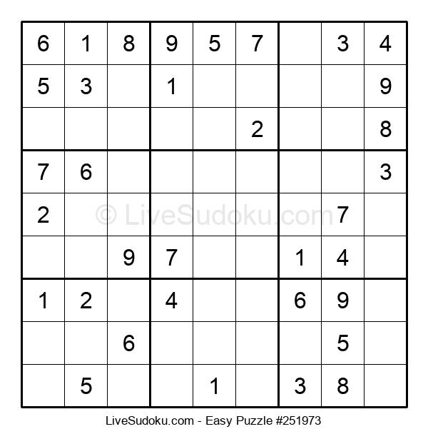 Beginners Puzzle #251973