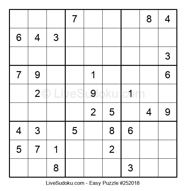 Beginners Puzzle #252018