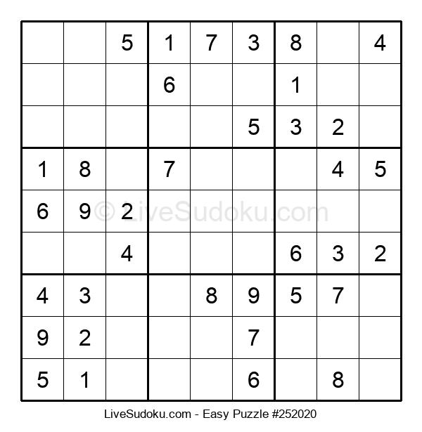 Beginners Puzzle #252020