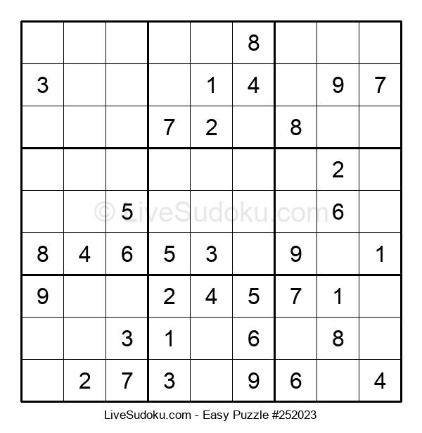 Beginners Puzzle #252023
