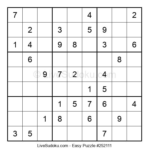 Beginners Puzzle #252111