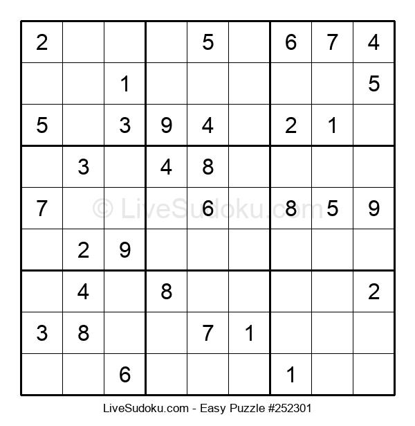 Beginners Puzzle #252301