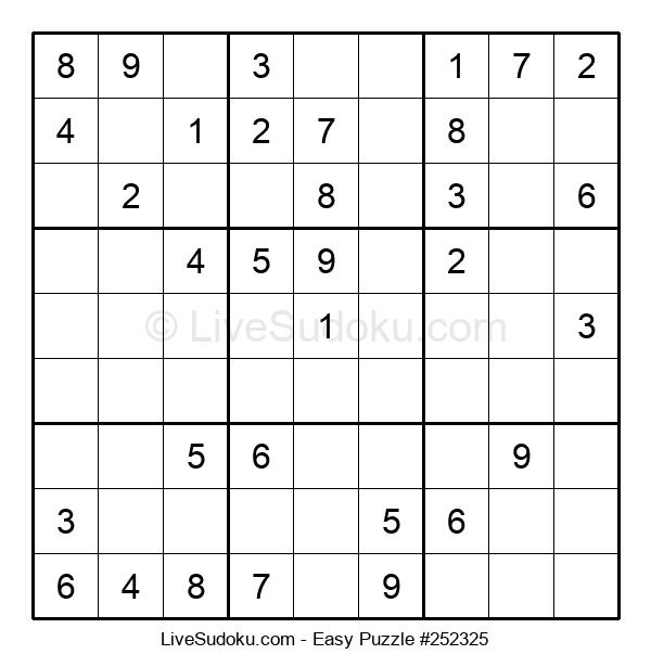 Beginners Puzzle #252325