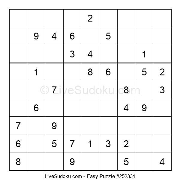 Beginners Puzzle #252331