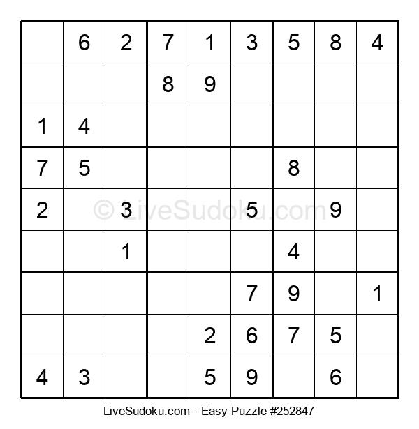 Beginners Puzzle #252847