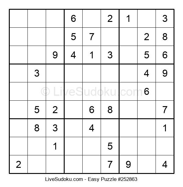 Beginners Puzzle #252863