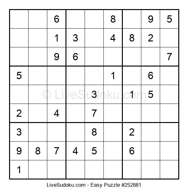 Beginners Puzzle #252881