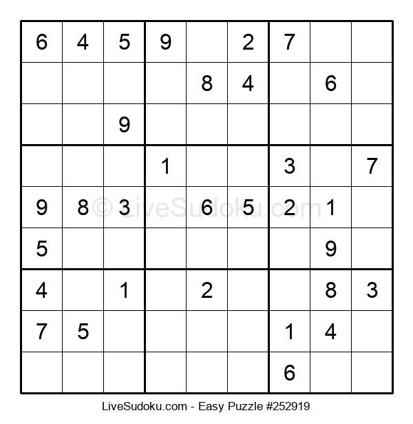 Beginners Puzzle #252919
