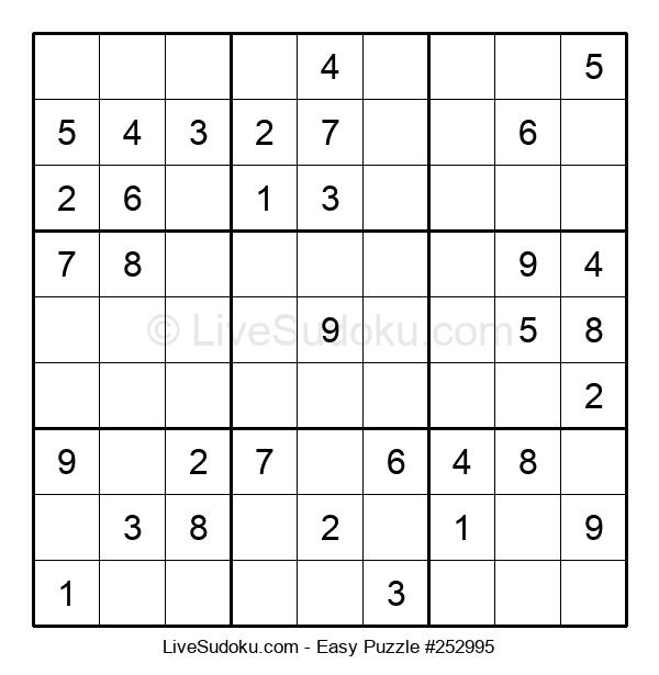 Beginners Puzzle #252995