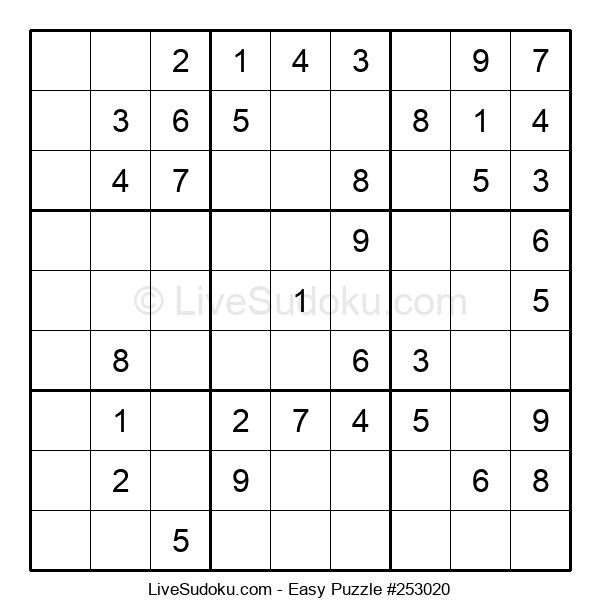 Beginners Puzzle #253020