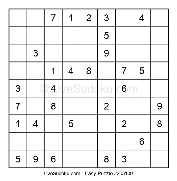 Beginners Puzzle #253109