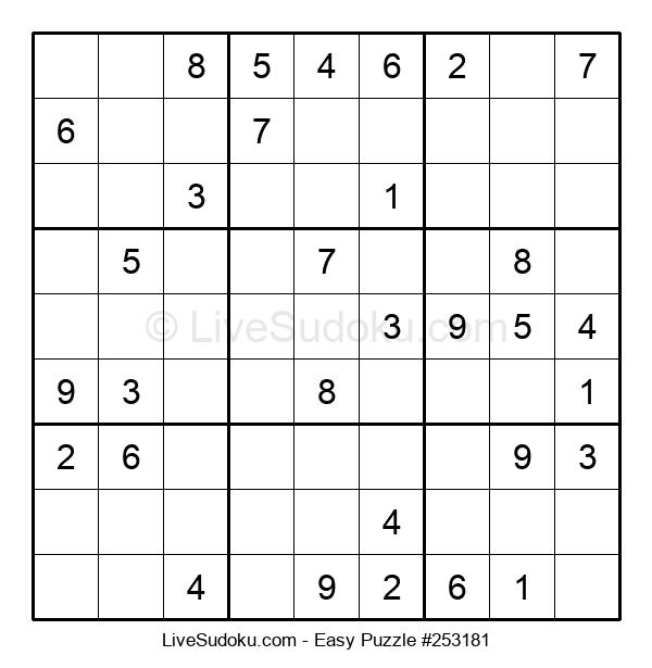Beginners Puzzle #253181