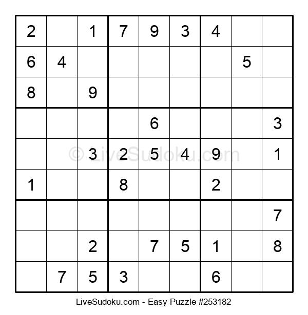 Beginners Puzzle #253182