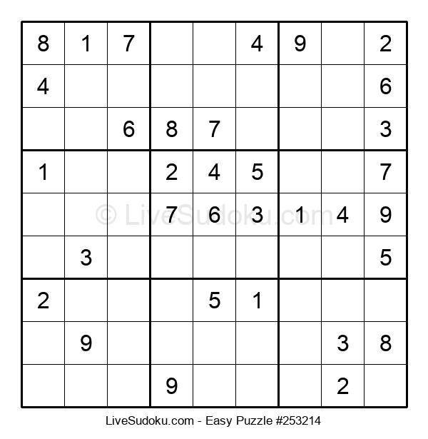 Beginners Puzzle #253214