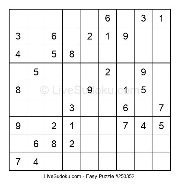 Beginners Puzzle #253352