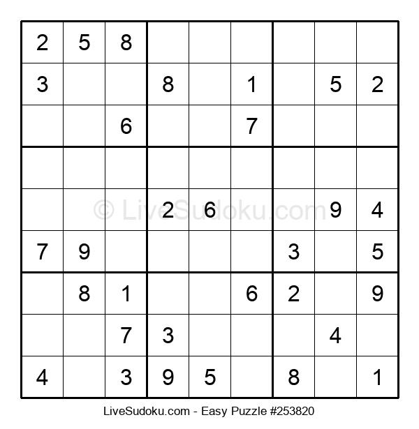 Beginners Puzzle #253820