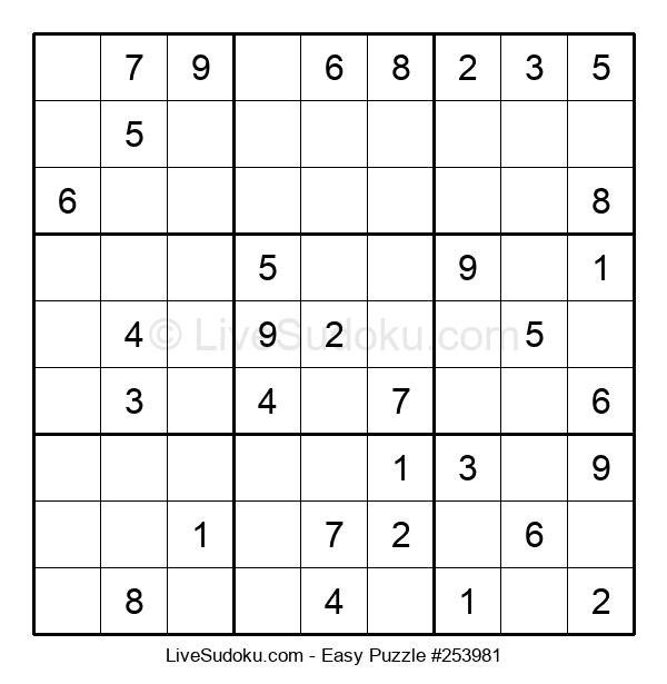 Beginners Puzzle #253981