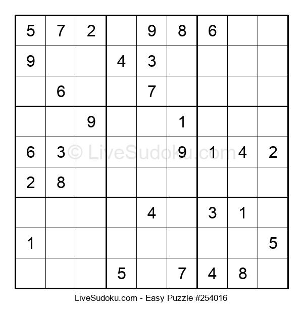 Beginners Puzzle #254016