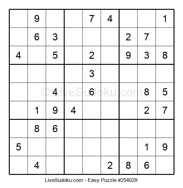 Beginners Puzzle #254029