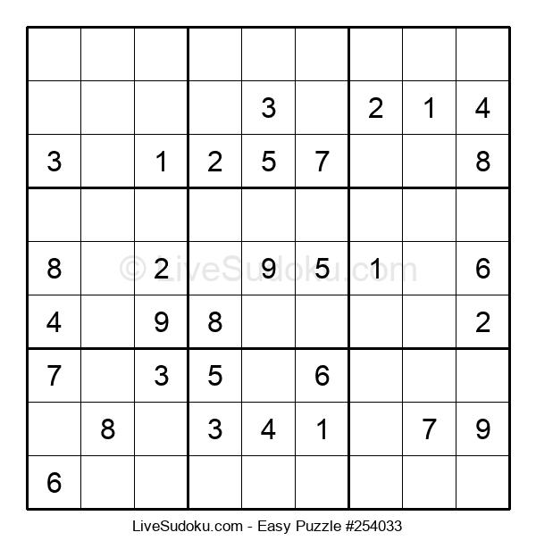 Beginners Puzzle #254033
