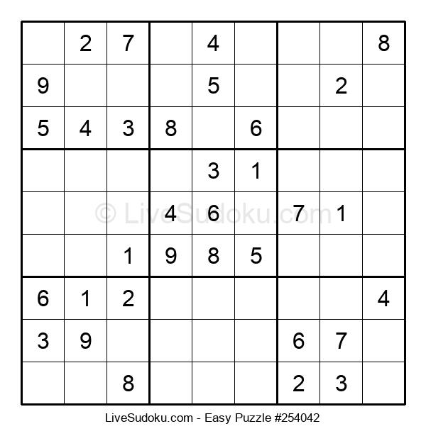 Beginners Puzzle #254042