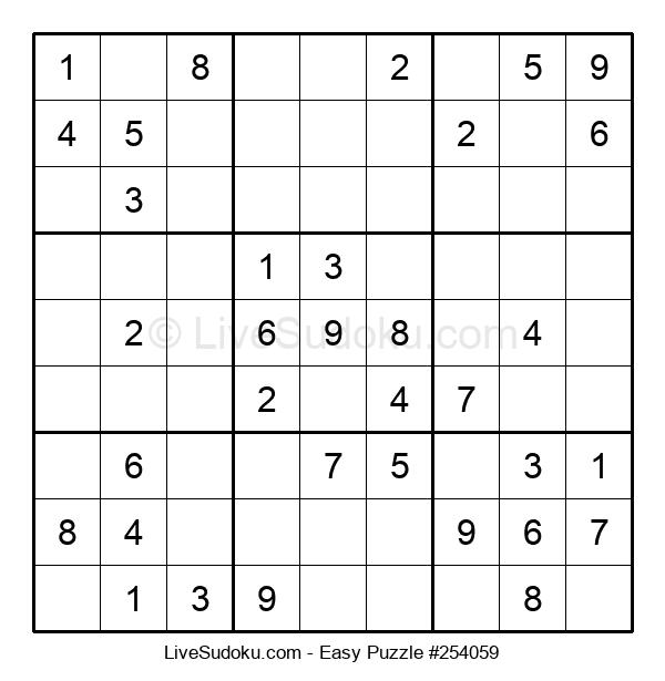 Beginners Puzzle #254059