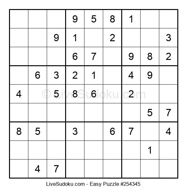 Beginners Puzzle #254345