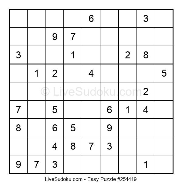 Beginners Puzzle #254419