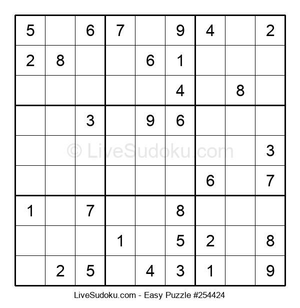 Beginners Puzzle #254424