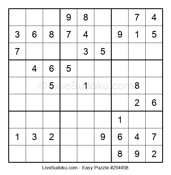 Beginners Puzzle #254458