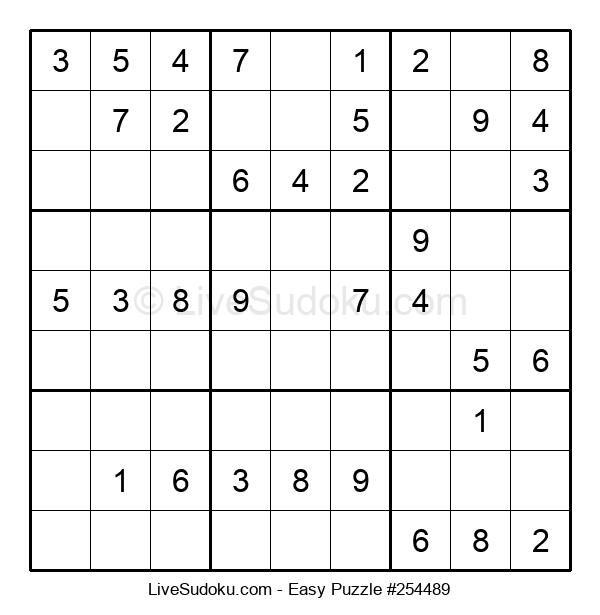 Beginners Puzzle #254489