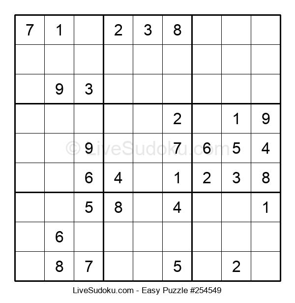 Beginners Puzzle #254549